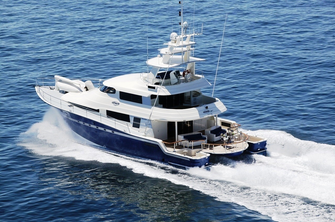 Ultimate lady yacht charter details south pacific fishing for Luxury fishing boats