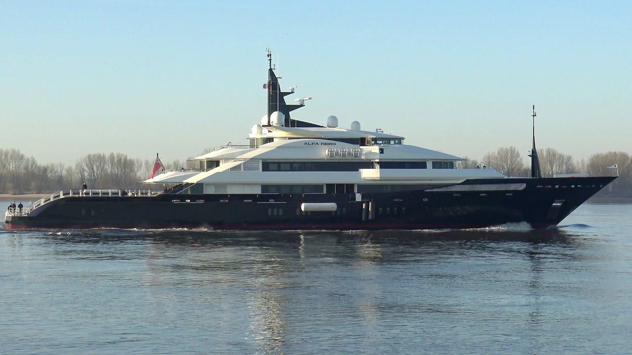 alfa nero yacht charter details  oceanco