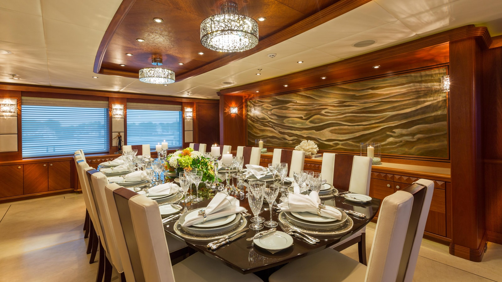 Dining Table Image Gallery – Luxury Yacht Browser | by ...