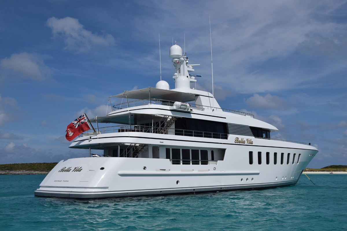 Two largest feadship mega yachts to date spotted together for The bella vita
