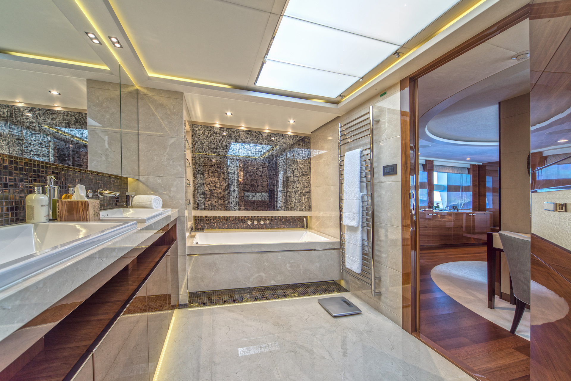 Remarkable journey of exciting new princess 30m superyacht for Masters toilet suites