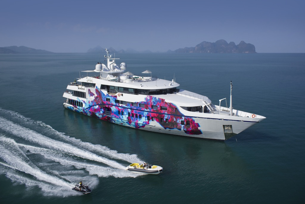 Superyacht saluzi can easily sleep an impressive number of 32 charter
