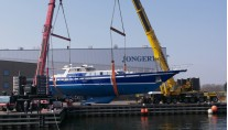 1-36m Jonger sailing yacht Tamer II ready to be re-launched