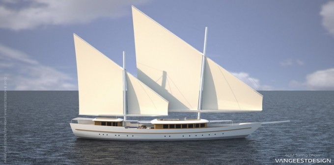 60m Sailing Dhow by Van Geest Design