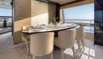 1-Luxury yacht Azimut 80 - Dining Area