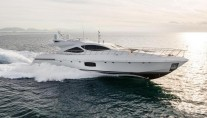 1-Overmarine superyacht Mangusta 110 at full speed