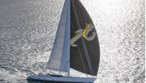 1-Sailing yacht Encore at full speed