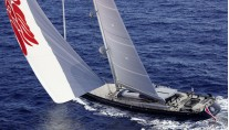 1-Sailing yacht Ganesha at full speed