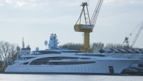 101m mega yacht V853 launched by Kusch Yachts