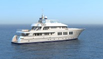 135ft JFA luxury yacht - aft view