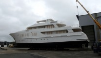 135ft JFA motor yacht in build