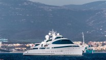 141m yacht Yas. Photo credit @superyachts_gibraltar