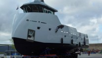 24m luxury yacht support vessel YXT One - side view