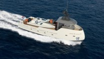 24m superyacht support vessel YXT One by Lynx Yachts and Diana Yacht Design