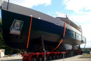 33-metre Alu Marine sailing yacht Cosmoledo at launch