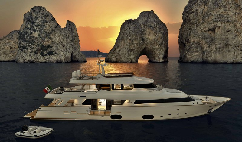 Yacht navetta 33 crescendo a ferretti custom line for G ferretti bathroom