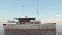 34m classic motor yacht Project Oldesalt (hull 44) by Aegean Yacht