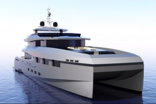 40M CAT super yacht Hull 40M-01 by Heysea Yachts