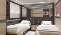 40m Extreme Yacht Guest Cabin