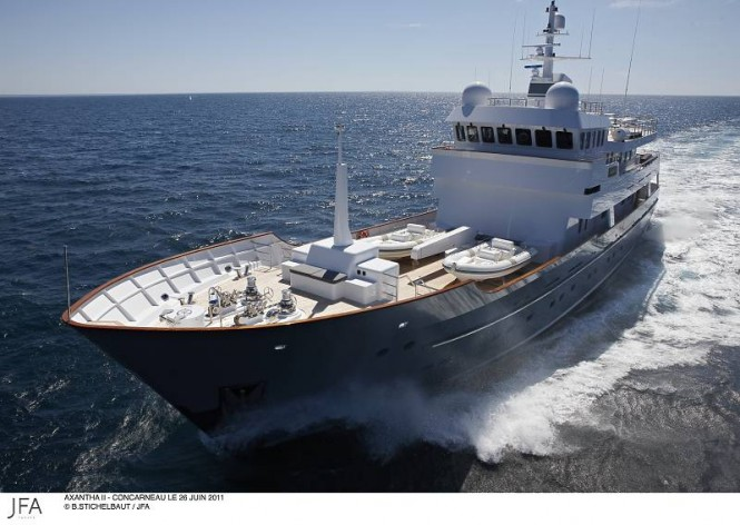 43 m Explorer charter yacht AXANTHA II- Photo Credit B.Stichelbaut : JFA