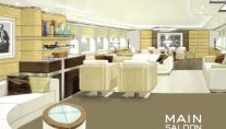 4400 Heesen Yacht Zentric - Main Saloon designed by Omega Architects