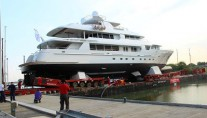 44m Bloemsma van Breemen motor yacht BN141 at launch