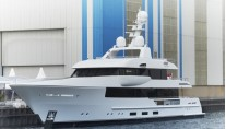 44m Feadship superyacht Moon Sand (hull 690) at launch-680