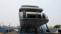44m motor yacht Green Voyager - rear view