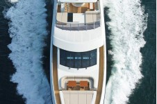 45m yacht Tatiana helicopter view