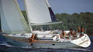 Sailing yacht beneteau 50
