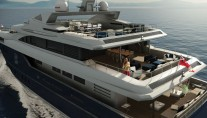 54m superyacht Rahil - rear view