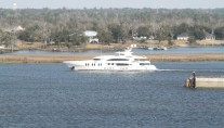 57m Superyacht LADY LINDA Heading to Sea