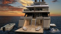 60STEEL Yacht by Sanlorenzo - aft view