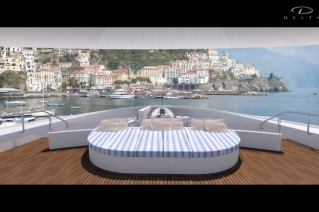 66m Delta motor yacht Hull 211-042 Foredeck Owners View