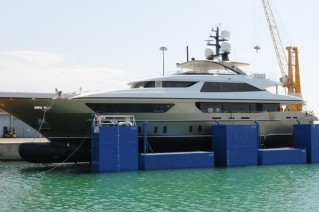 6th 46Steel superyacht Trident by Sanlorenzo at launch