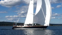70ft luxury yacht Sonny by Brooklin Boat Yard under sail
