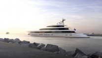 85m mega yacht WHITE LION by Nobiskrug and Lobanov Naval Design