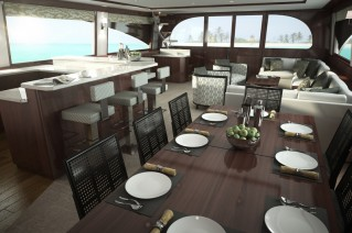 92C superyacht - Dining