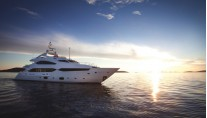 A Sunseeker 40M superyacht - same model as the SUN LOVER Yacht