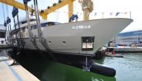 A sister ship to Piacere Yacht - Luxury Yacht O at launch