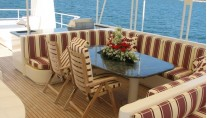 AB NORMAL superyacht outside dining area