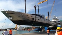 AB116 yacht by  Fipa Group at launch
