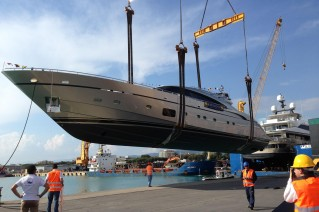 AB116 yacht by  Fipa Group at launch.JPG