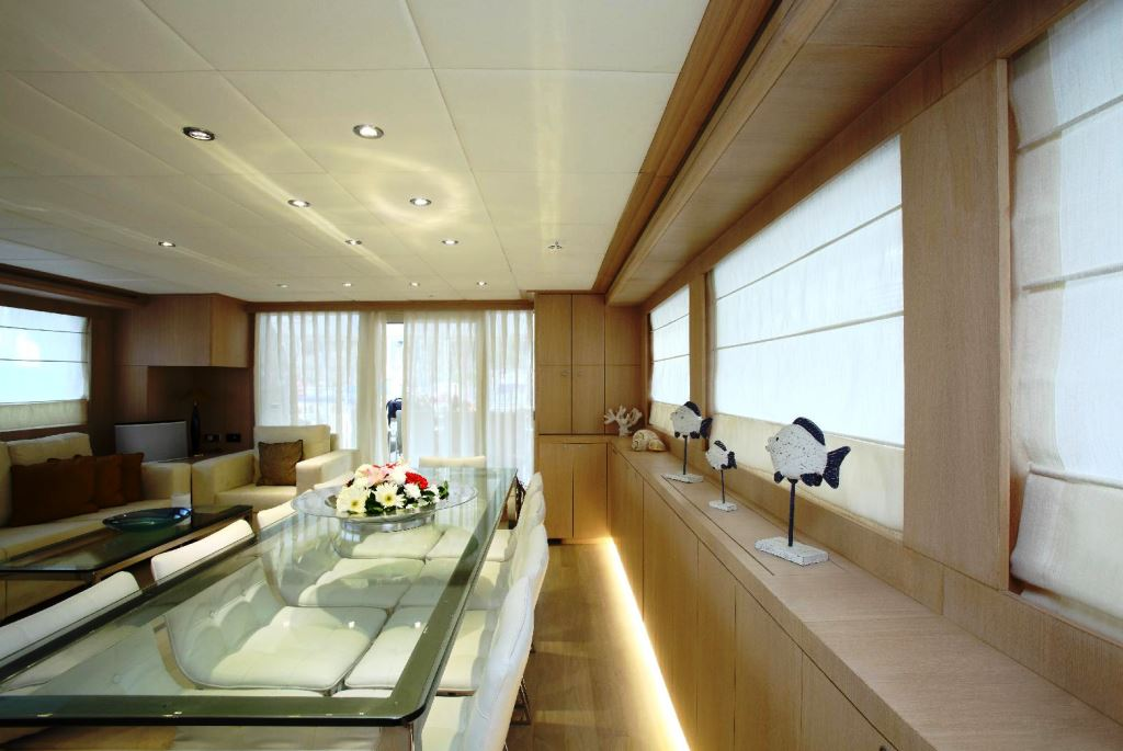Adagio alpha 1 salon dining luxury yacht browser for Adagio beauty salon