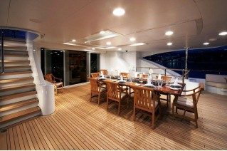 AMNESIA - Lower Aft Deck dining