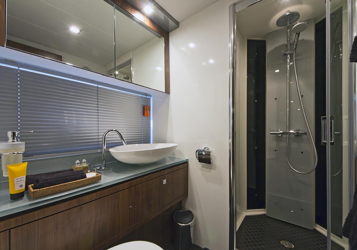 Luxury Bathrooms Ireland luxury yacht charter aqua blue ireland - guest bathroom - sunseeker