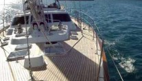 AURORA 67ft -  On Deck looking Aft