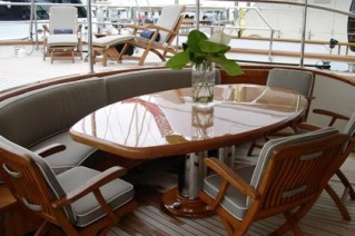 AURORE Aft Deck Dining
