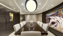 AY46 luxury yacht MONDANGO 3 - Dining Room Image by Chris Lewis