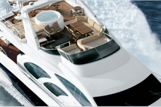 AZIMUT 98 - Flybridge Detail